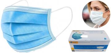 Masque chirurgical à usage unique, en paquet de 50 pièces