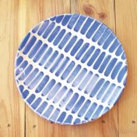 Assiette dash Bleue et blanc