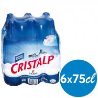 Cristalp Nature Sportcap 6-pack Pet 75 cl